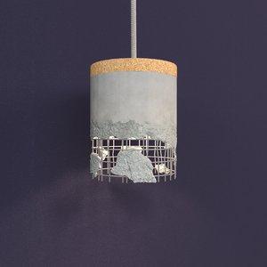 3D slash lamp model