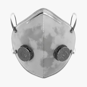 respirator used pbr 3D model