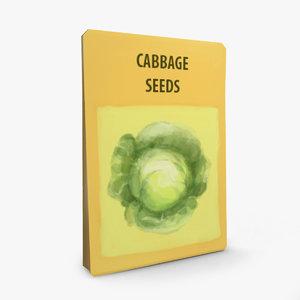 3D packet cabbage seeds
