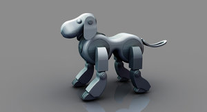 3D model robot dog