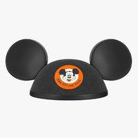 Mouse Ears Black Hat