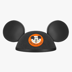3D mouse ears black