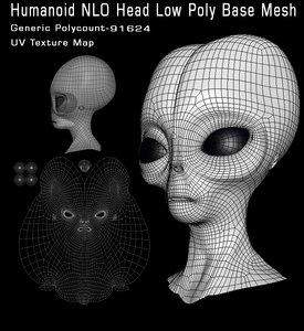 humanoid head base 3D