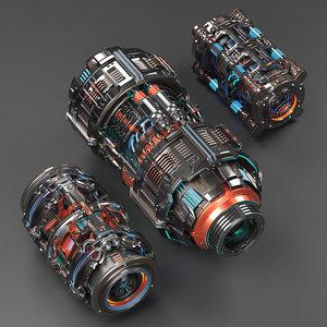 sci fi mega elements model