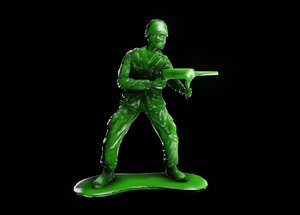 3D toy soldier