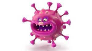 3D cartoon virus