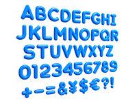 Alphabet 3D model Bubble Letters