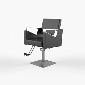 black barber chair 3D model