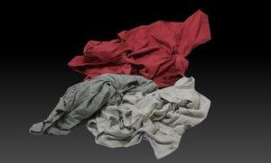 3D pile cloths