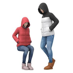 girl jackets model