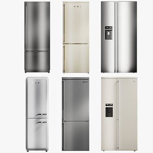 3D realistic fridge 1 collections