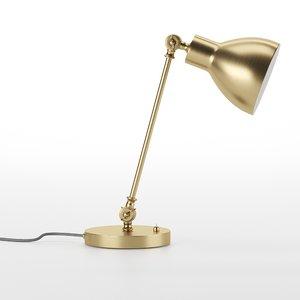 3D model golden table lamp