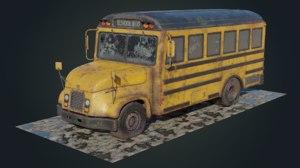 old school bus 3D