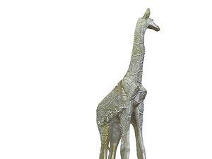 3D stone giraffe hd model
