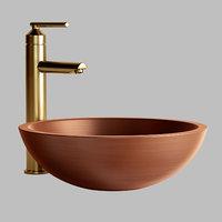 Burgan Double-Wall Copper Vessel Sink