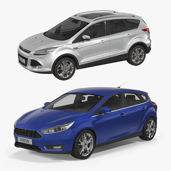 Modele 3d De Ford Kuga And Ford Focus Collection Turbosquid 1525291