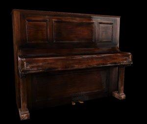 ready piano 3D model