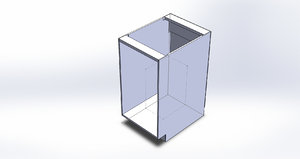 3D model parametric kitchen cabinet solidworks
