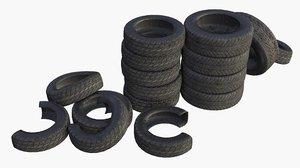 assets car tires 3D model