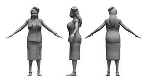3D kerala india girl model