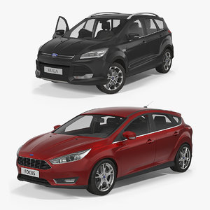 kuga focus rigged model