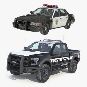 police cars 3D model