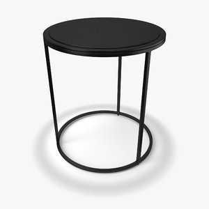 3D knurl small accent table model