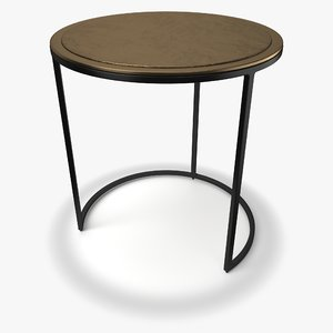 3D knurl large accent table model