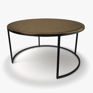 knurl large coffee table 3D model