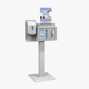 standing sanitizer 3D model