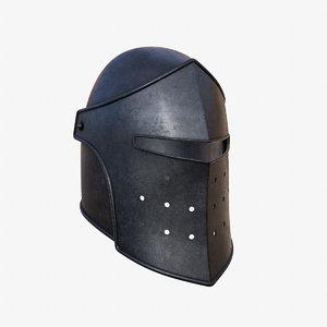 3D knight helmet pbr