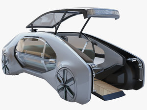 rigged renault ez-go concept model