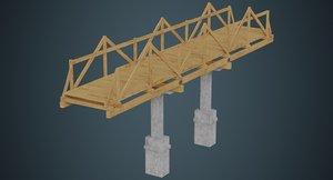 3D model plank bridge 3a