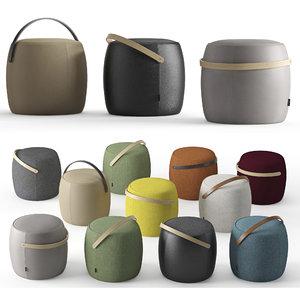 3D pouf carry model