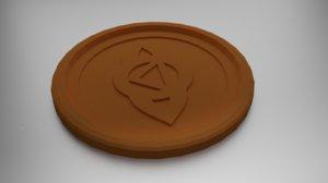 3D model coaster anja eye