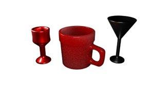 3D 3 glassware