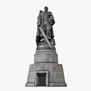 3D soviet war memorial