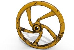 3D hand wheel model