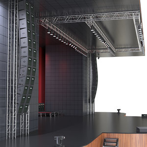 theater stage 3D model