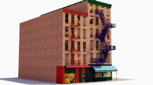chicago brick building 3D model