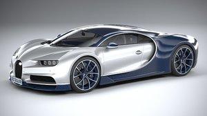 bugatti chiron 2020 3D model
