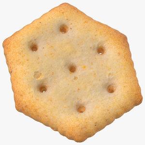 3D cracker hexagon 01 model