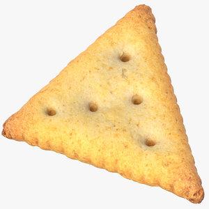 cracker triangle 01 3D model