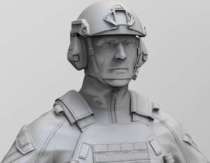 special force soldier zbrush 3D model