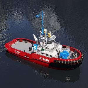 tugboat tug boat 3D model