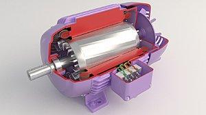 electric motor insi 3D model