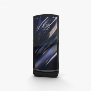 3D motorola razr black model