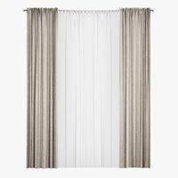 Straight beige curtains