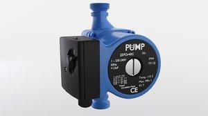 water circulation pump 3D model