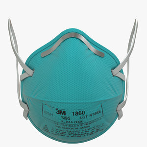 3D n95 respirator mask model